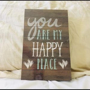 You are my happy place room decor wall art